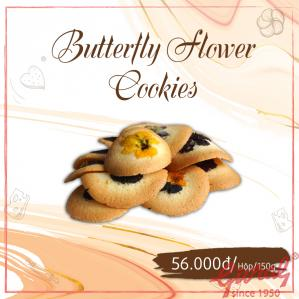 Butterfly Flower Cookies